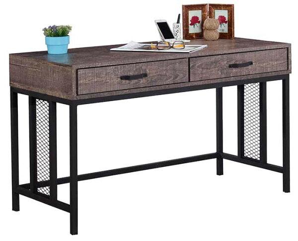 【尚品傢俱】JF-357-2馬汀4尺工業風鐵網二抽書桌