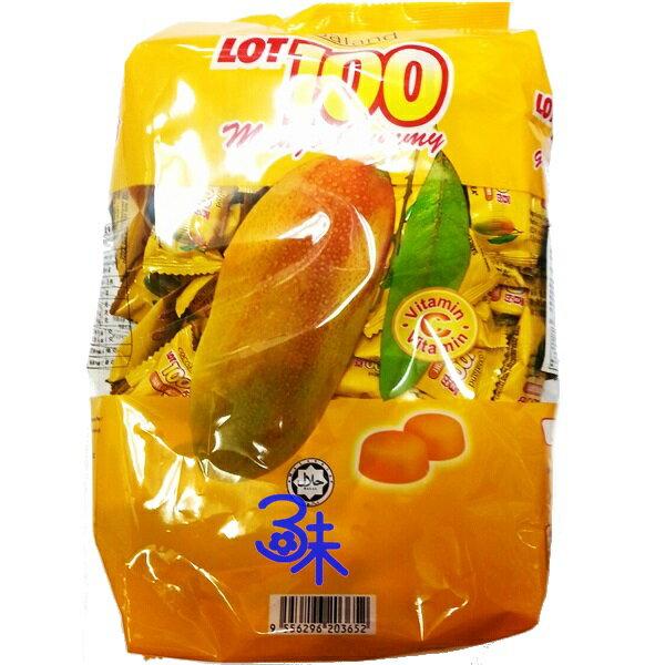 (馬來西亞) Lot 100 一百份芒果QQ軟糖(一百分馬來西亞芒果QQ軟糖 /慧鴻百分百芒果QQ糖/100分芒果糖 )1包1000公克 特價 248 元 【9556296203652 】
