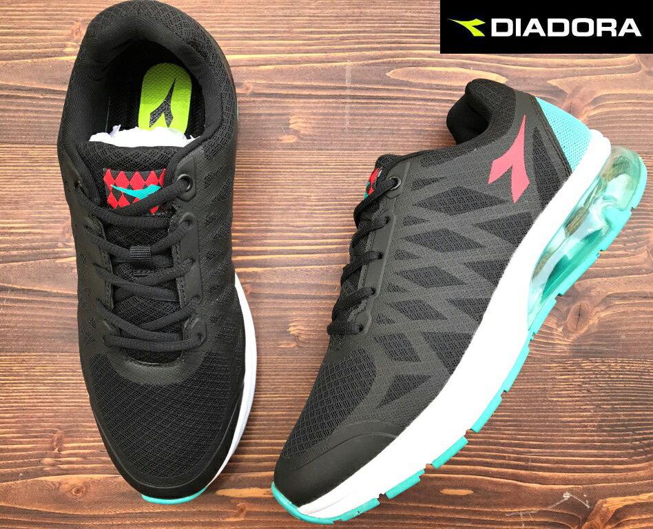 【剪標品出清-25.5/26號】義大利國寶鞋-DIADORA迪亞多納 男款E寬楦氣墊運動慢跑鞋