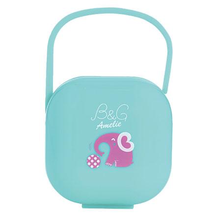 【悅兒園婦幼生活館】Baby Garden 安撫奶嘴收藏盒/香草奶嘴適用-小紅象