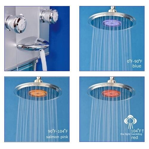 AKDY AKV62318 Aluminum Thermostatic Shower Panel W/ Massage Spout Spray 2