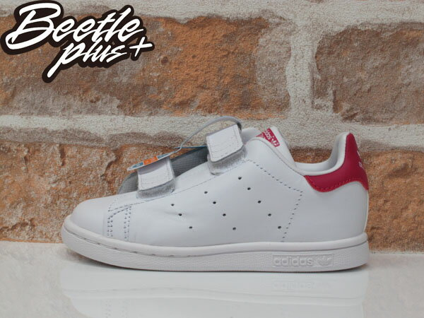 童鞋 BEETLE ADIDAS ORIGINALS STAN SMITH CF I 白 童紅 魔鬼氈 B32704 D-596 14.5 16.5 CM 0