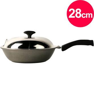 清水 奈米鈦瓷釉鑄造小炒鍋28cm(MF0370S)