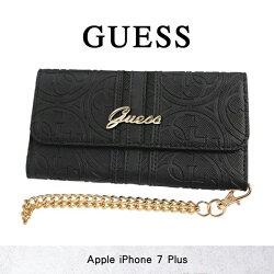 GUESS 立體壓紋手拿包* 5.5吋 iPhone 7 Plus/i7+ 剪裁壓印LOGO 卡片夾/卡袋/磁扣/側掀/側翻 皮夾/皮套/保護套/軟殼/保護殼/手機套/手機殼