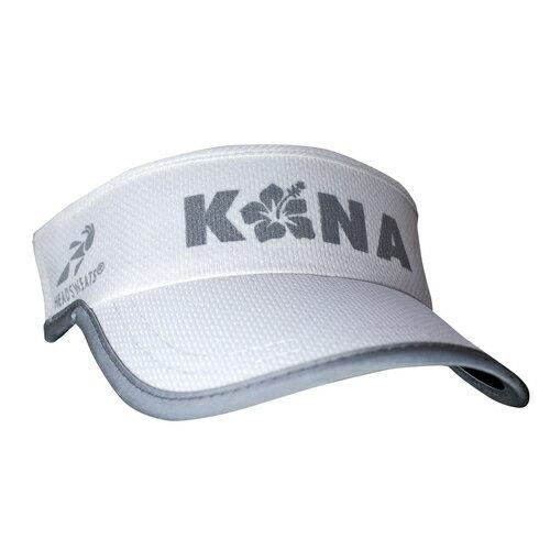 騎跑泳勇者-HEADSWEATS汗淂(全球運動帽領導品牌)中空空心帽,銀色KONALogo白色反光