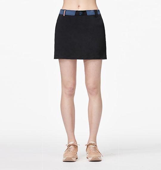 [ WILDLAND 荒野 ] 女  快乾排汗抗UV褲裙 黑 / 0A91343-54