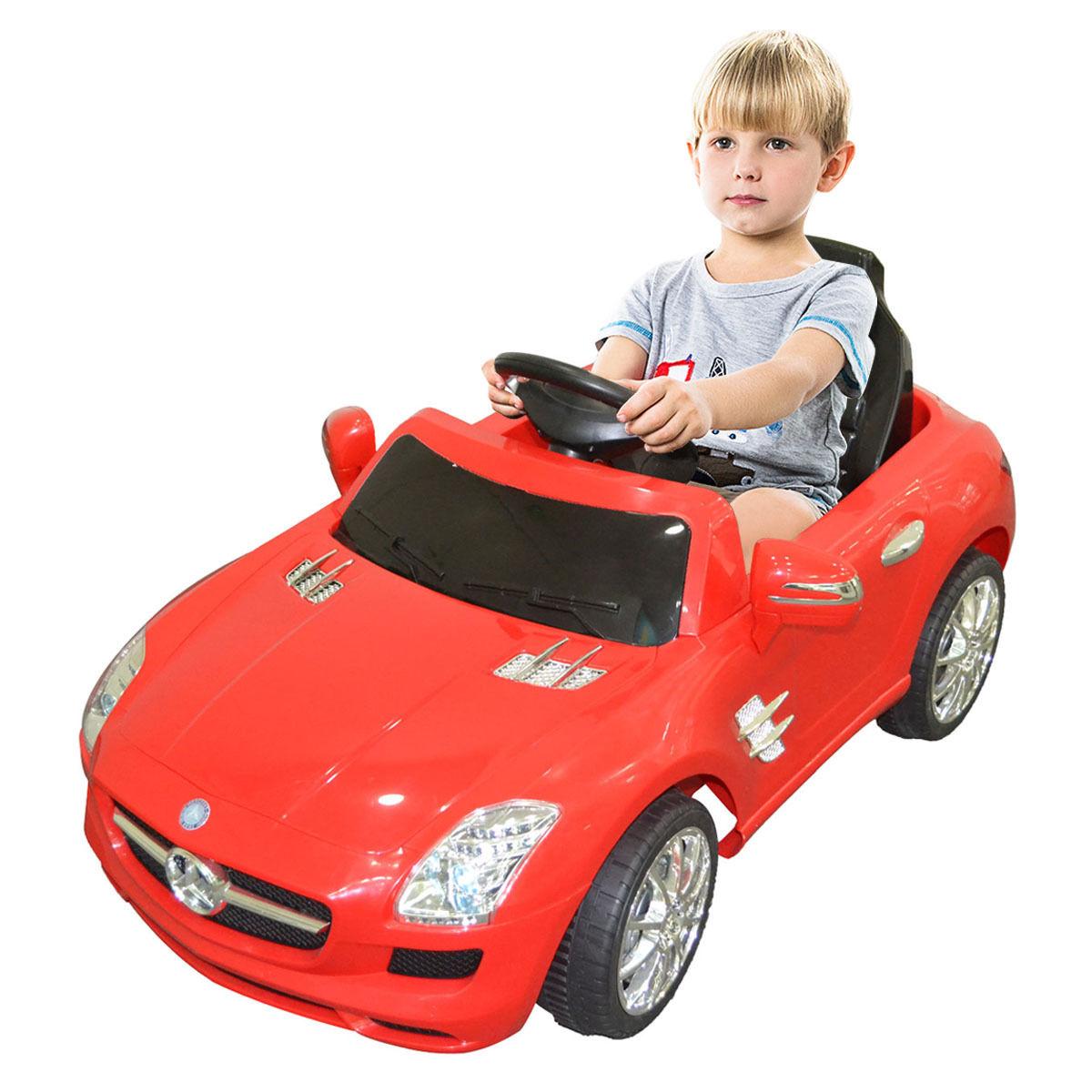 Costway Costway Red Mercedes Benz Sls R C Mp3 Kids Ride On Car Electric Battery Toy Rakuten Com