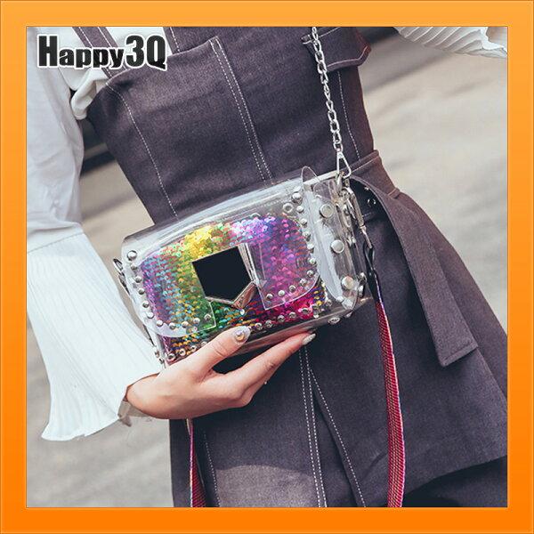 編織包亮片包特殊包小方包隨身包子母包透明包軟包-粉彩米【AAA4425】