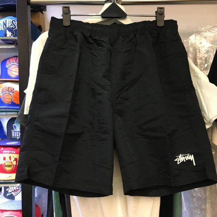 BEETLE STUSSY STOCK ELASTIC II WAIST SHORTS 二代 小LOGO 黑白 衝浪褲 ST-36