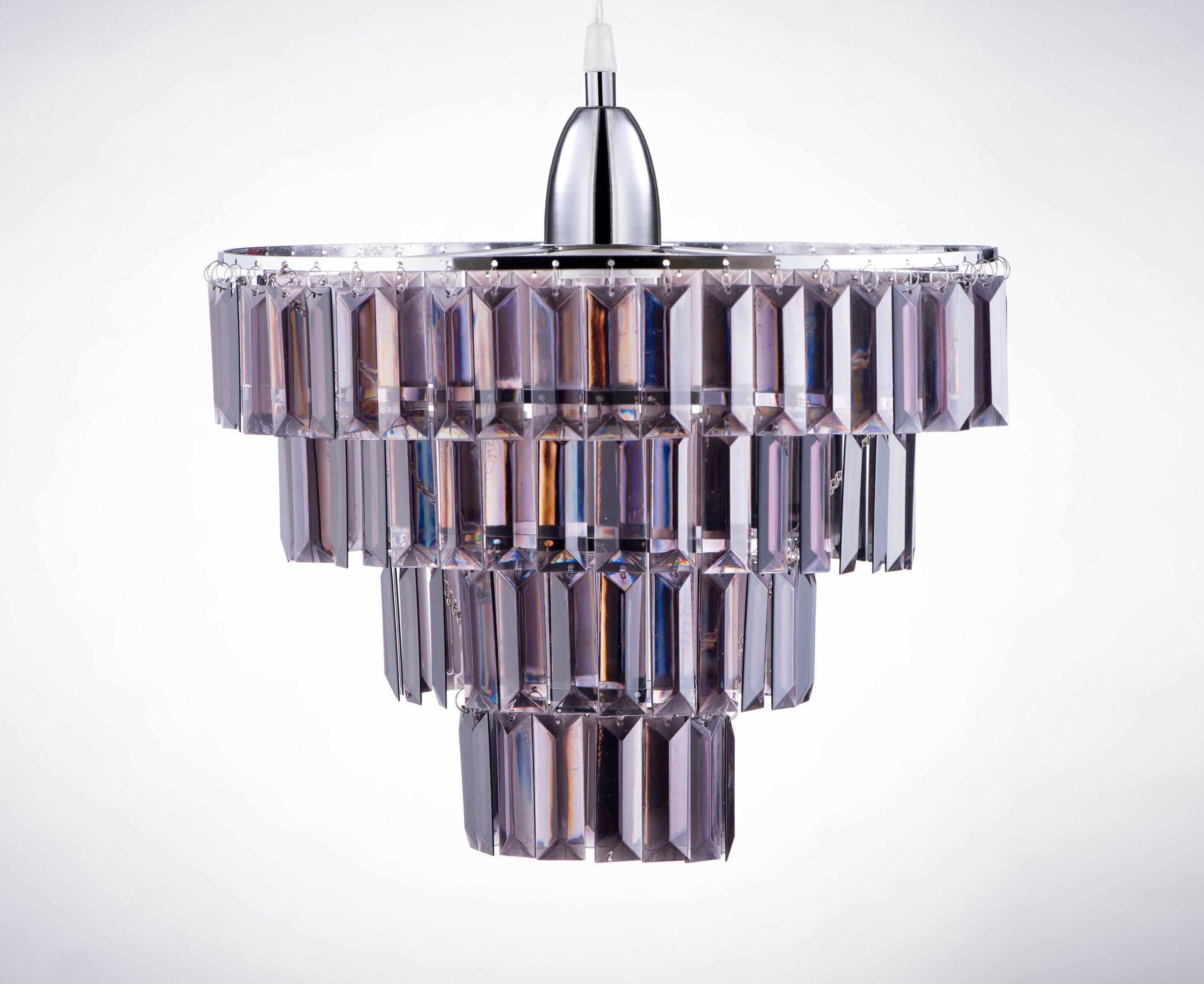 鍍鉻多層次燻黑壓克力板吊燈-BNL00043 0