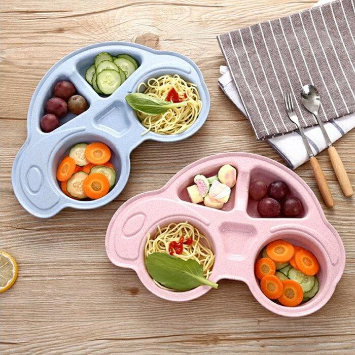 [Hare.D] 小麥 秸稈 餐盤 兒童 卡通 餐具 餐盤 餐碗 碗盤 盤子 多格 汽車 造型 環保