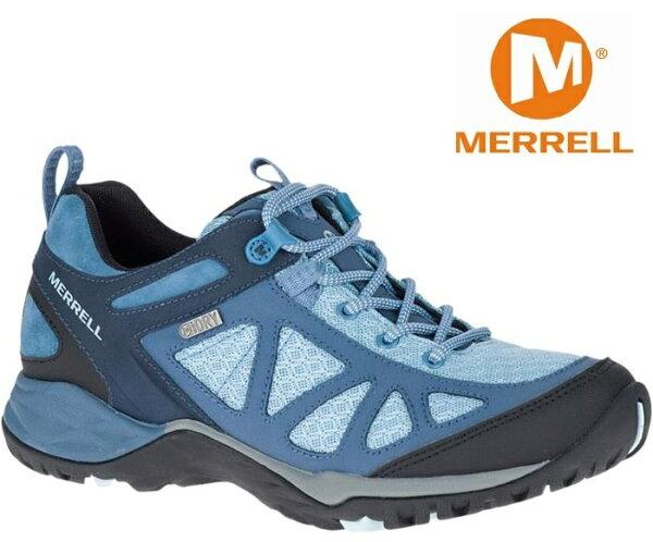 Merrell登山鞋健行鞋防水透氣SirenSportQ2GORE-TEX女款ML12434水藍