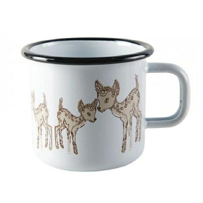 【芬蘭Muurla】小鹿琺瑯馬克杯370cc-咖啡杯/琺瑯杯