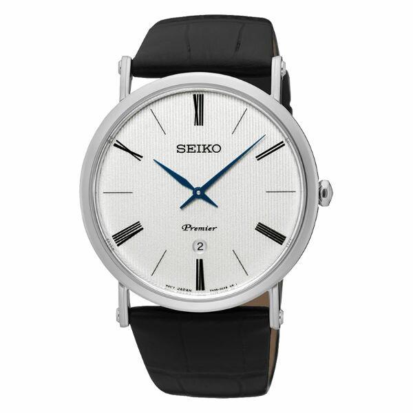 Seiko精工錶7N39-0CA0P(SKP395J1)纖薄羅馬紳士腕錶白面41mm