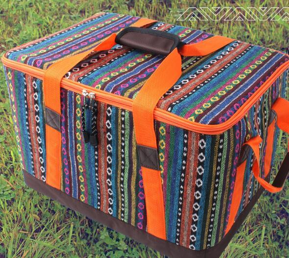 美麗大街【20107011527】鮮豔款民族風收納袋收納包日常雜物放置便攜帶易收納