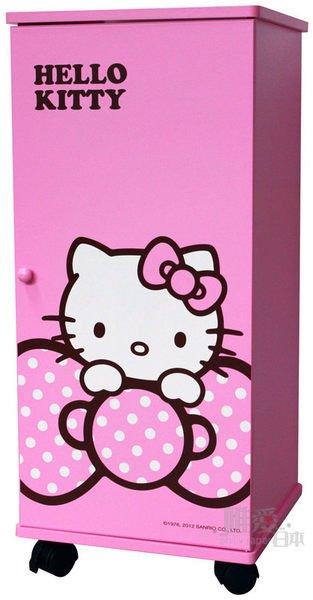 【真拉門三層滾輪櫃-蝴蝶結粉 Hello Kitty 凱蒂貓 櫃子 鞋櫃 衣櫃