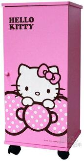 【真愛日本】12043000002 蝴蝶結拉門三層滾輪櫃-粉紅 三麗鷗 Hello Kitty 凱蒂貓 櫃子 鞋櫃 衣櫃