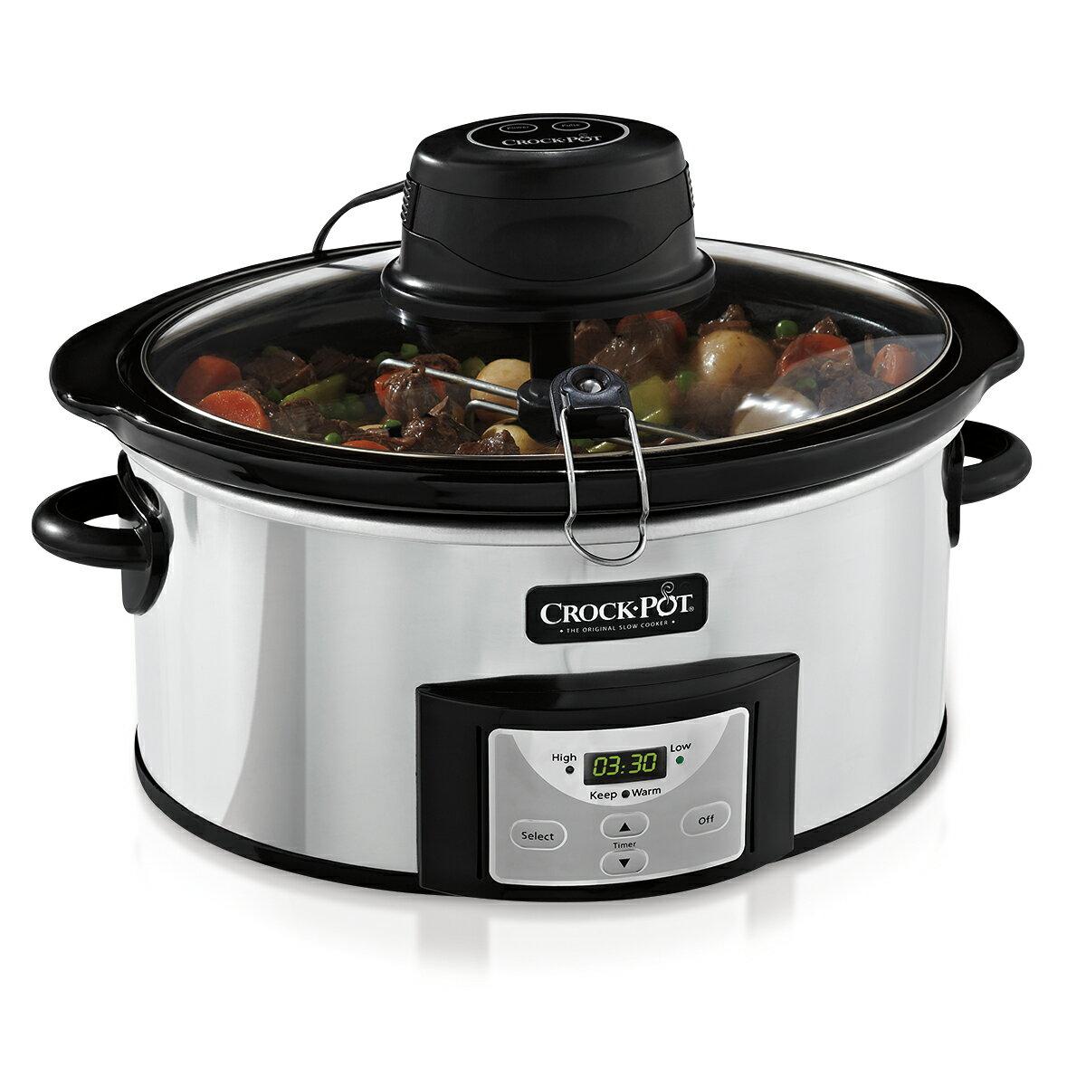 Crock-Pot 6-Quart Digital Slow Cooker with iStir™ Stirring System SCCPVC600AS-P 0