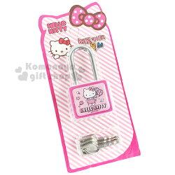〔小禮堂韓國館〕Hello Kitty 鋼質鎖頭《粉.站姿.氣球.附3支鑰匙.泡殼裝》