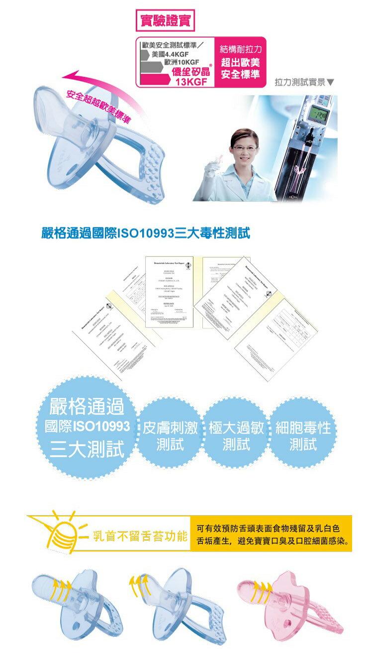 US Baby 優生 - 矽晶安撫奶嘴 (標準) -S (藍/紅) 3
