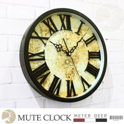 loft工業風創意時鐘 3D立體羅馬數字刻度復古大陸航海世界地圖造型靜音掛鐘 歐式特色造型個性牆面裝飾掛畫時鐘