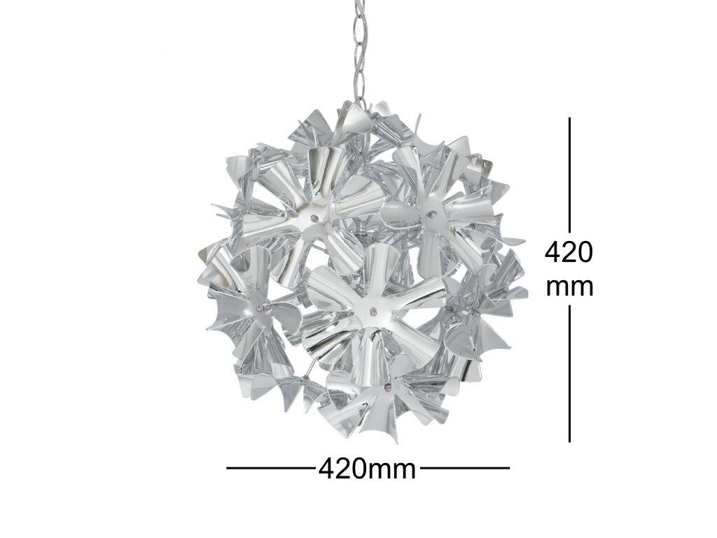 鍍鉻波浪花紋吊燈-BNL00052 3