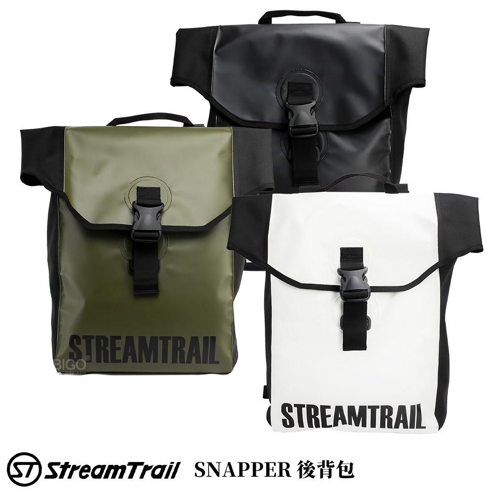 【日本 Stream Trail】SNAPPER 後背包 16L 雙肩背包 手提把 筆電包 防水背包 胸扣帶 超具質感