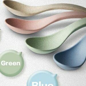 美麗大街~DWS0528~ 麥纖維環保咖啡勺子套裝攪拌湯勺加厚調羹咖啡匙餐具