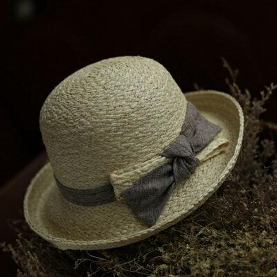 草帽手工編織捲邊帽-時尚精緻優雅氣質女遮陽帽2色73si23【獨家進口】【米蘭精品】