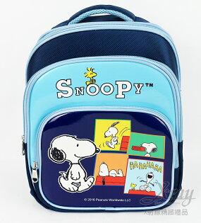 X射線【C979801】史努比立體輕量護脊透氣書包-藍,開學必備環保輕量書包兒童安全書包雙肩包
