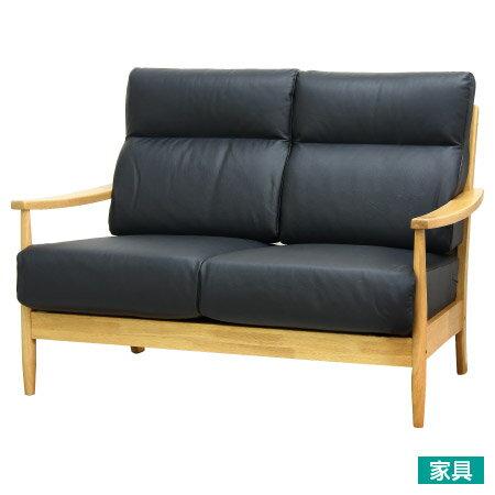 ◎半皮 2人用沙發 HILL LBR / BK NITORI宜得利家居 1
