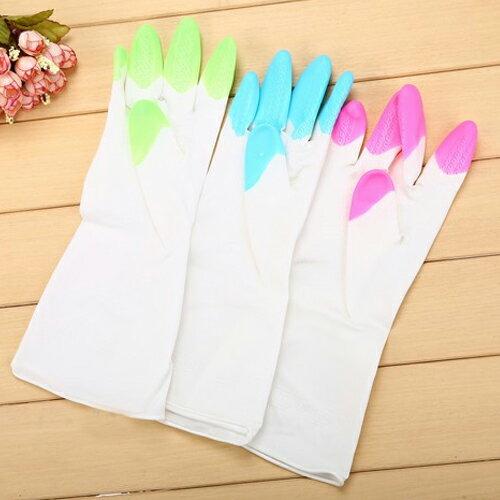 PS Mall 舒婷 家務清潔橡膠手套 加厚家用乳膠防水洗碗手套【J1965】 0