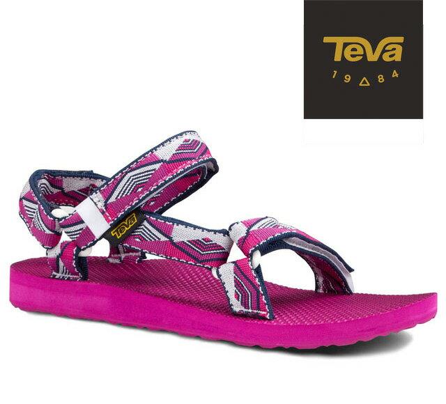 【超值搶購↘原$1680】TEVA |美國| ORIGINAL 原創系列復古款涼鞋 運動涼鞋 女款 金字塔梅紅/TV1003987PRPB