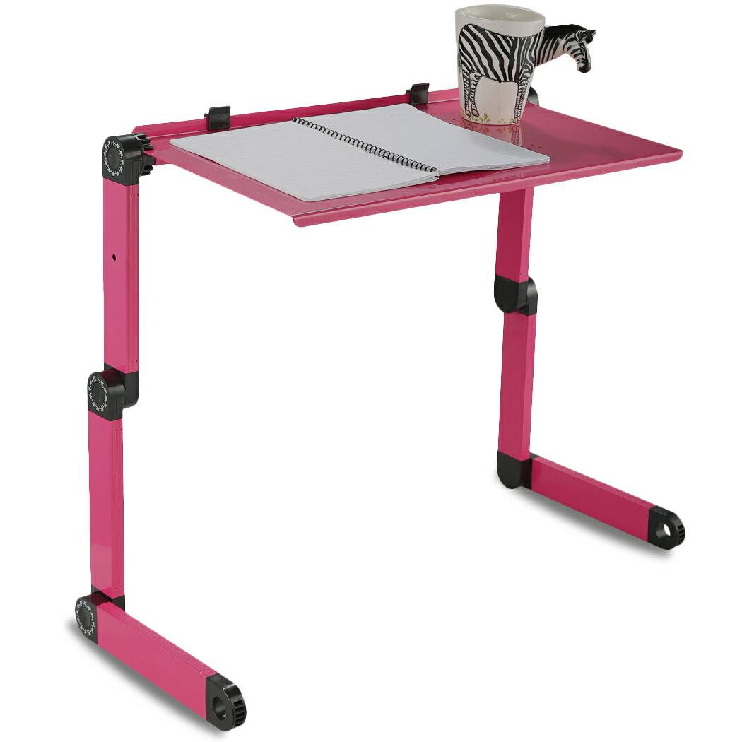 Foldable Aluminium Dual Cooler Fans Laptop Table Portable Notebook PC Desk Book Stand Holder 6