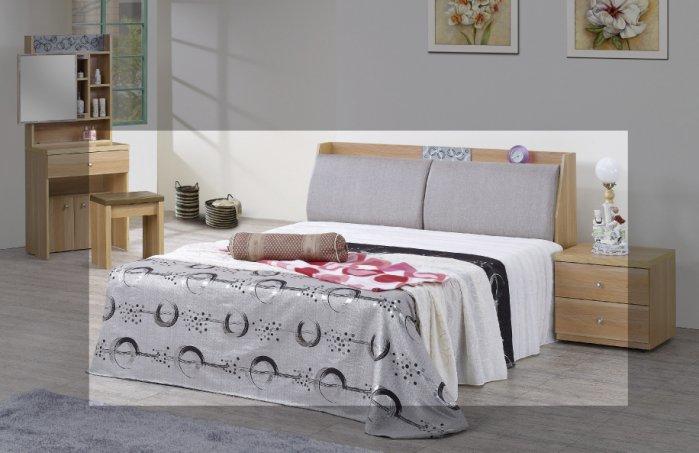 【尚品家具】JF-558-1 歐蕊5 尺橡木紋被櫥雙人床