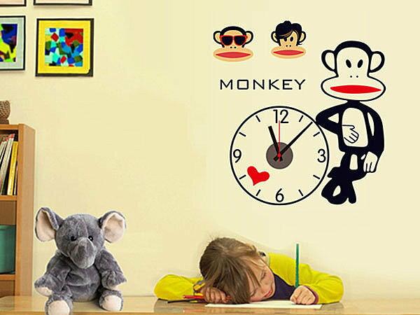 BO雜貨【YV3836】創意可移動壁貼 牆貼 背景貼 時尚組合壁貼樹 璧貼 磁磚貼 兒童房 大嘴猴