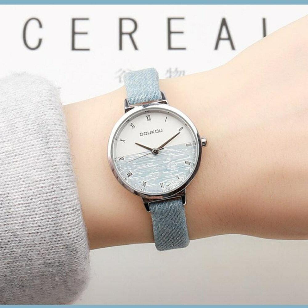 韓版復古女學生手錶女皮帶森女系時尚潮流簡約羅馬小表盤石英女表   遇見生活 聖誕節禮物