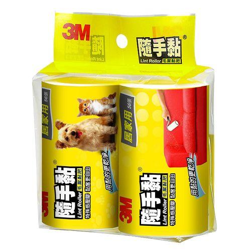 3M毛絮黏把補充包居家用2入【愛買】
