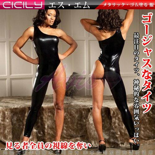 虐戀 CICILY◆長腿美魔女*美腿造型塗膠仿皮性感彈力連體緊身衣◆DS1187◆情趣線上
