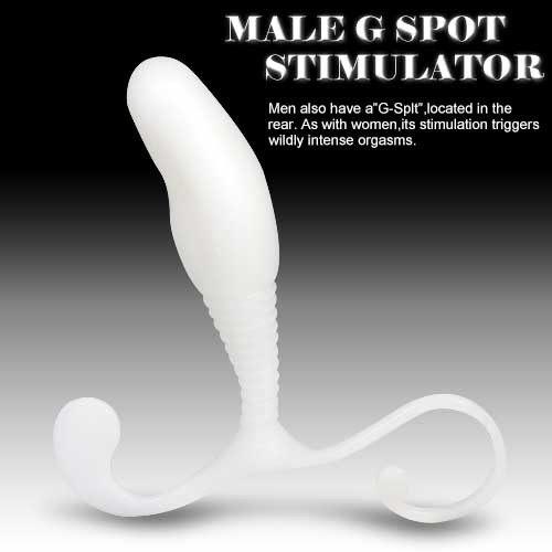 遊戲頑童~G點前列腺按摩棒-白色◆G點前列腺激發器◆情趣線上