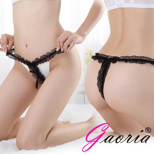 情趣線上◆甜蜜升溫 蕾絲花邊性感 丁字褲 白 T-005