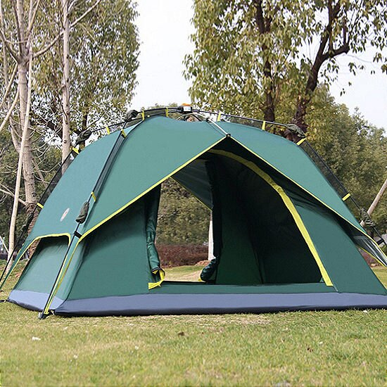 ?MY COLOR?旋壓式全自動帳篷 雙層 戶外 裝備 雙人 野營 快速 4-6人 家庭 海邊 草地 【I03】