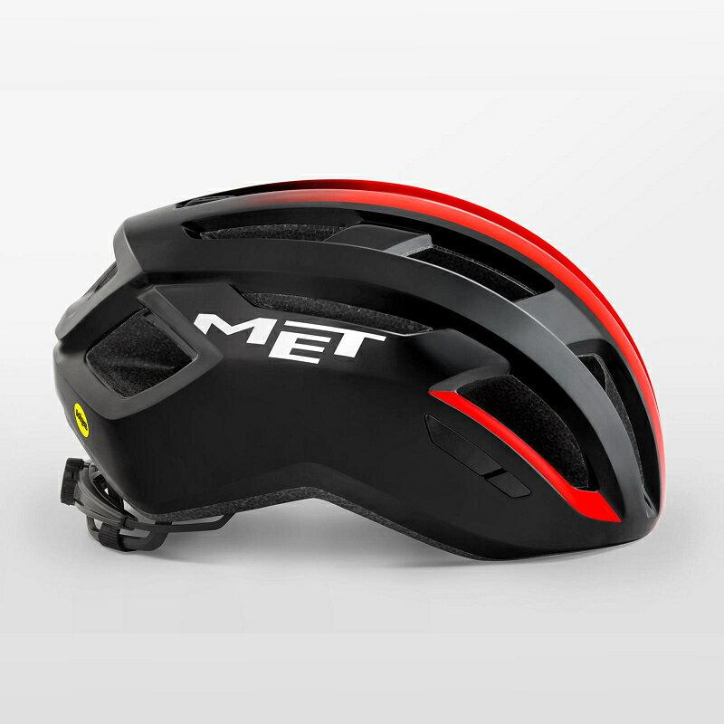 【7號公園自行車】MET VINCI MIPS 自行車安全帽(亮黑紅)