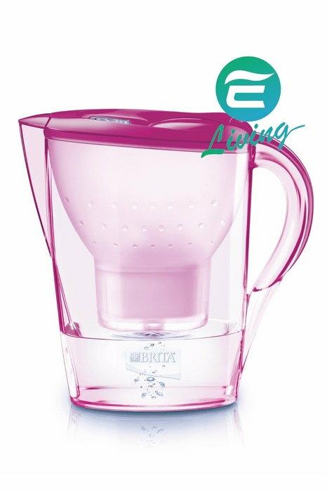 BRITA Marella XL 3.5L 濾水壺+濾心1個 粉紅色 #82833【超商取貨限購一組,無法與其他商品合訂】