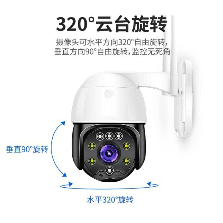 攝像頭 無線攝像頭360度全景家用高清夜視室外插卡4G網絡手機遠程器 AW卡洛琳精品 領券下定更優惠