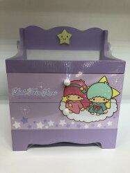 雙子星 繽紛 造型 兩層 收納盒 飾品盒 收納櫃 桌上型 三麗鷗 Kiki Lala 正版 授權 T0001 146