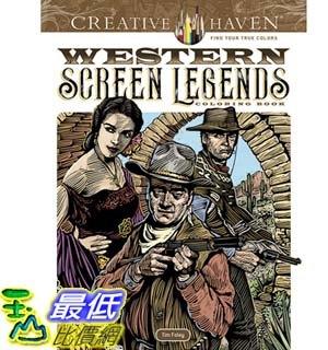 [7美國直購] 暢銷畫冊書 Creative Haven Western Screen Legends Coloring Book (Adult Coloring) Paperback