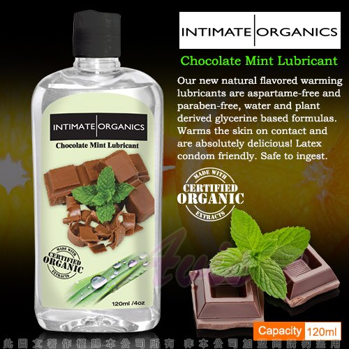 ◤潤滑液情趣潤滑液高潮潤滑液◥ 加拿大INTIMATE-Chocolate Mint Warming lube 水果口味熱感潤滑液-巧克力薄荷 120ml
