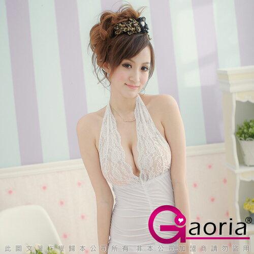 【Gaoria】美神降臨-魅姬三件式睡襯衣(白) F1-0037