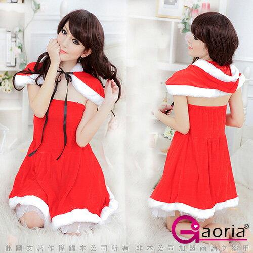 【ViVi情趣精品】【Gaoria】熱情小紅帽‧絨布披肩聖誕角色服